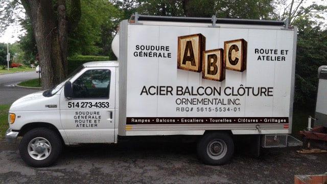 ABC Acier Balcon Clôture Ornemental Meubles bois Acier Laval Montreal Rive Nord